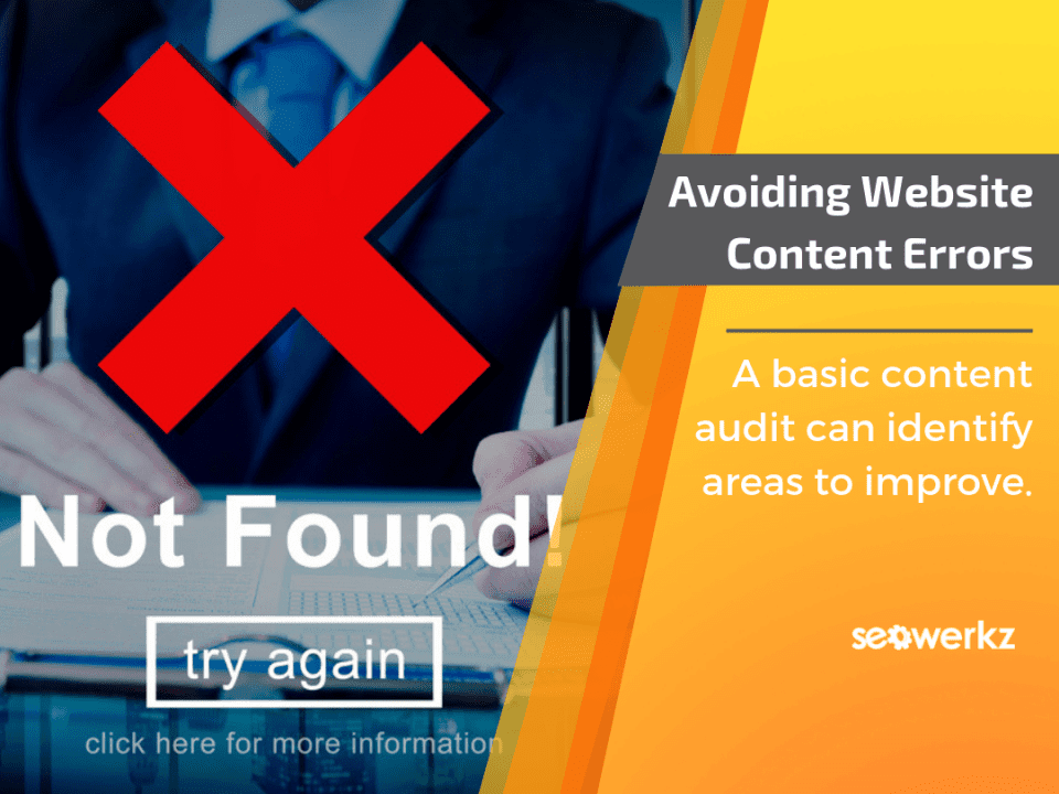 website content errors