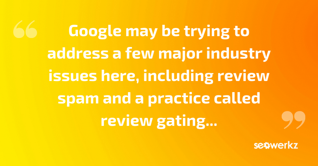 google's review star changes