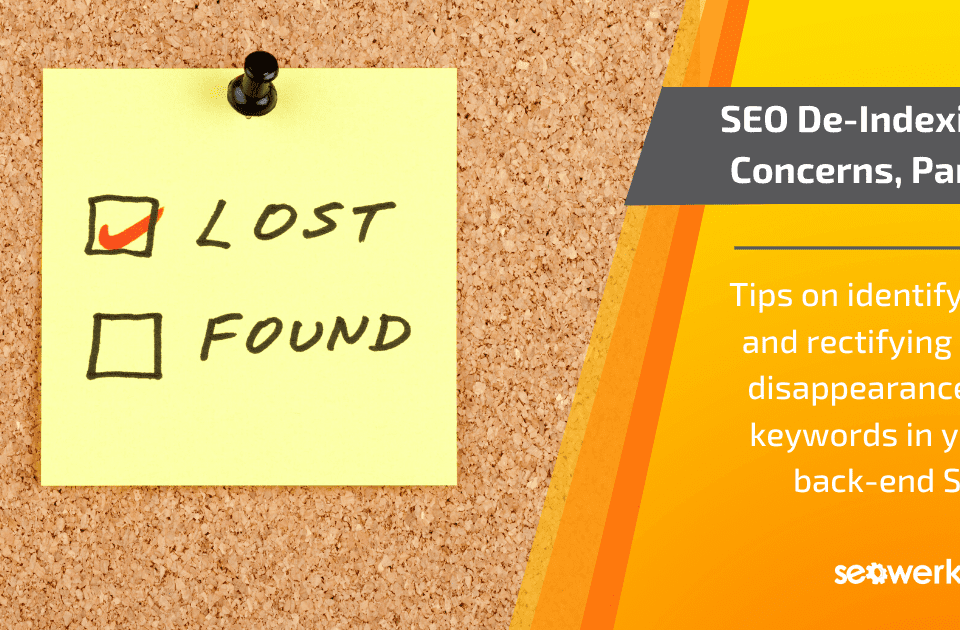 identifying SEO de-indexing concerns