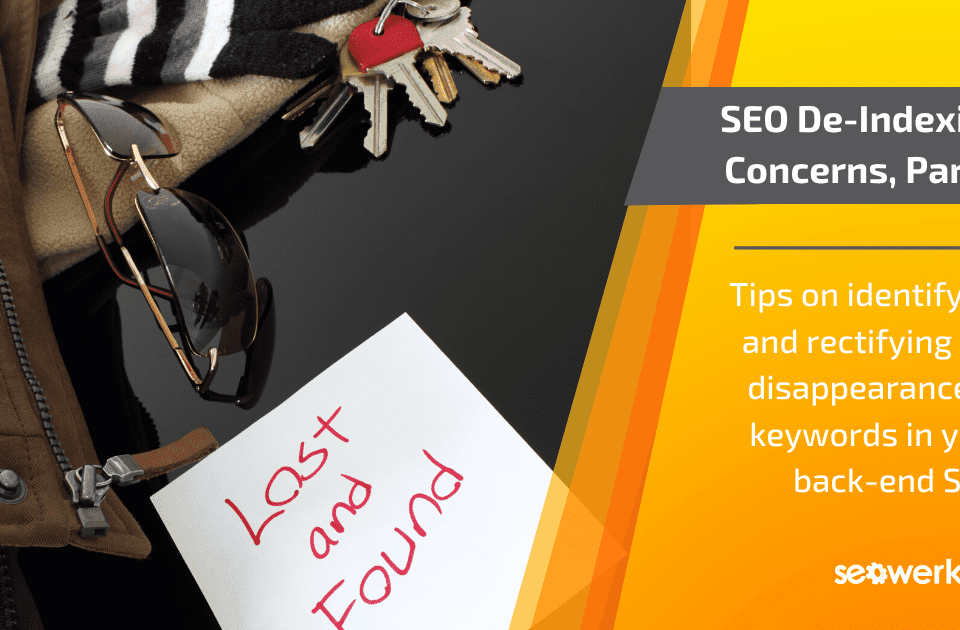 rectifying SEO de-indexing concerns