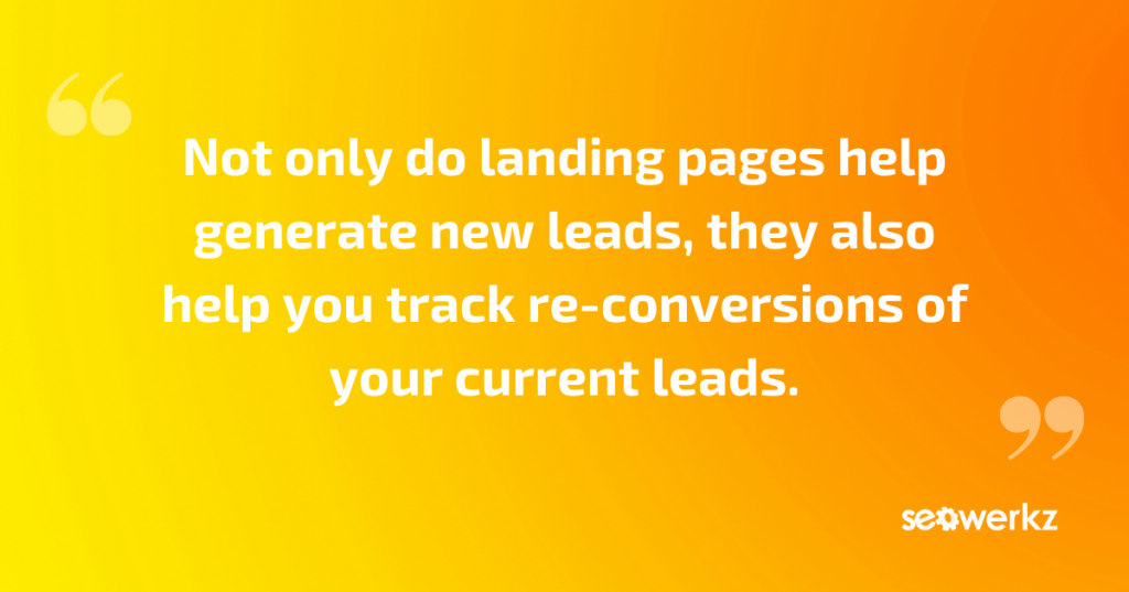 landing pages internet marketing