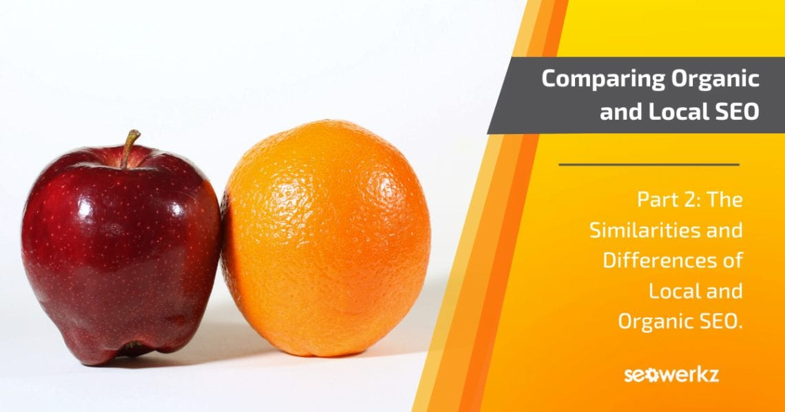 organic local SEO differences