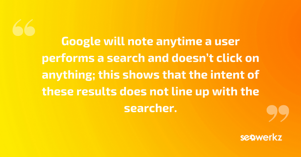 user search intent SEO