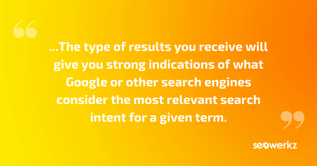 SEO search intent queries