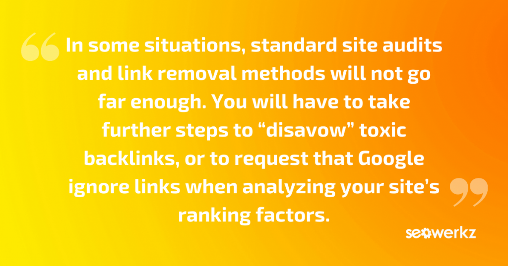 toxic backlinks removal prevention