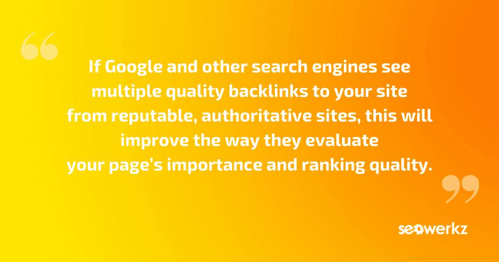 website backlinks basics SEO